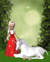 Einhorn und Prinzessin von Conny Dambach