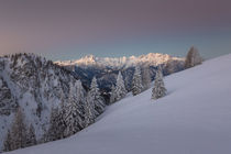 Blue hour from Karawanke mountain chain by Bor Rojnik