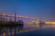 Nebelabend Köhlbrandbrücke von photobiahamburg