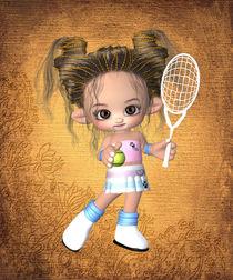 Kleine Tennisspielerin by Conny Dambach