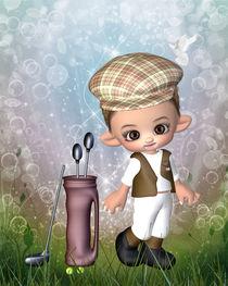 Kleiner Golfspieler von Conny Dambach