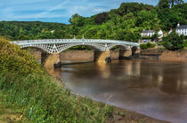 The Old Bridge At Chepstow by Ian Lewis