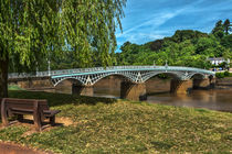 A Riverside Seat At Chepstow by Ian Lewis