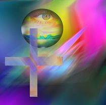RAINBOW RISING CROSS by Helmut Witkowitsch