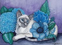 Blue Point Siamese Cat by Sandra Gale