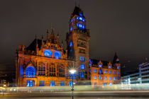 Rathaus Saarbrücken - Illumination I von Bettina Dittmann