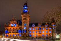 Rathaus Saarbrücken - Illumination II von Bettina Dittmann