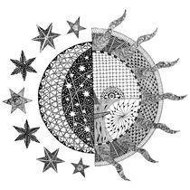 Nightime Daytime Tangle by Malc McHugh