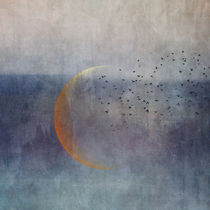 The Golden Moon and the Birds von Priska  Wettstein