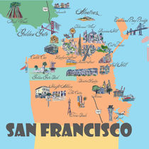 San Francisco California Retro Map von M.  Bleichner