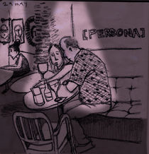 girl in a bar by Angela G