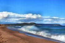 Welle mit Regenbogen von Iris Heuer