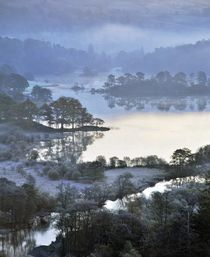 Rydal Water winter blue by David Lyons