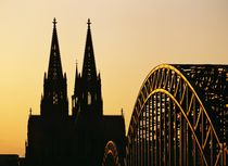 The Dom and Hohenzollern bridge, Cologne by David Lyons