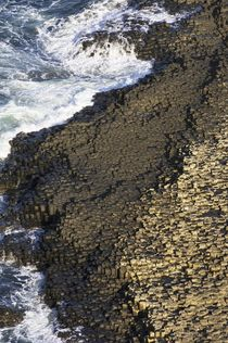 Giants Causeway basalt. North Ireland coast by David Lyons