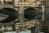 The Ponte Vecchio on the Arno, Florence by David Lyons