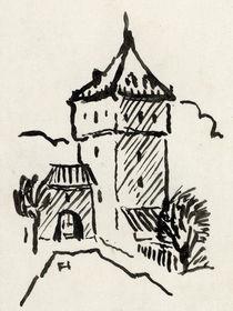 Schelmenturm, schwarz-weiß von Norbert Hergl