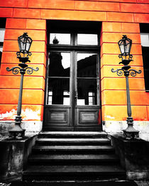 Side entrance at Palace in Sondershausen, Thüringia, Germany by salogwynfineart