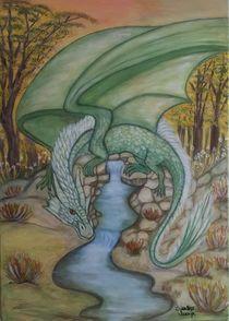 Grüner Drachen von Marija Di Matteo
