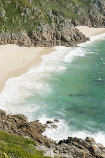 Porthcurno Beach, Cornwall by David Lyons