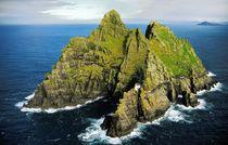 The hermitage rock of Skellig Michael by David Lyons