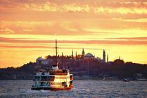 Istanbul ferry on the Bosphorus von David Lyons