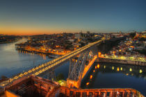 Porto twylight bridge  by Rob Hawkins