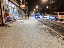 Pavement with snow  by Enache Armand Iustinian