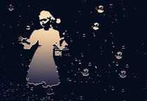 The little girl and the soap bubbles von salogwynfineart