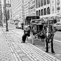 New York Coachman waiting for customers by salogwynfineart