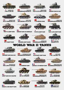 World War II Tanks by olaartprints