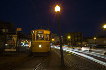 Porto Night Tram  by Rob Hawkins