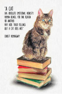 Cat Quote by Ernest Hemingway von zapista
