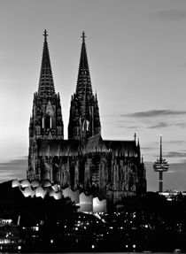 The Dom across the Rhine, Cologne. B&W von David Lyons