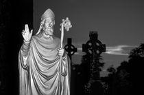 Saint Patrick on the Hill of Slane. B&W von David Lyons