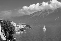 Gargnano on Lake Garda, Italy. B&W by David Lyons