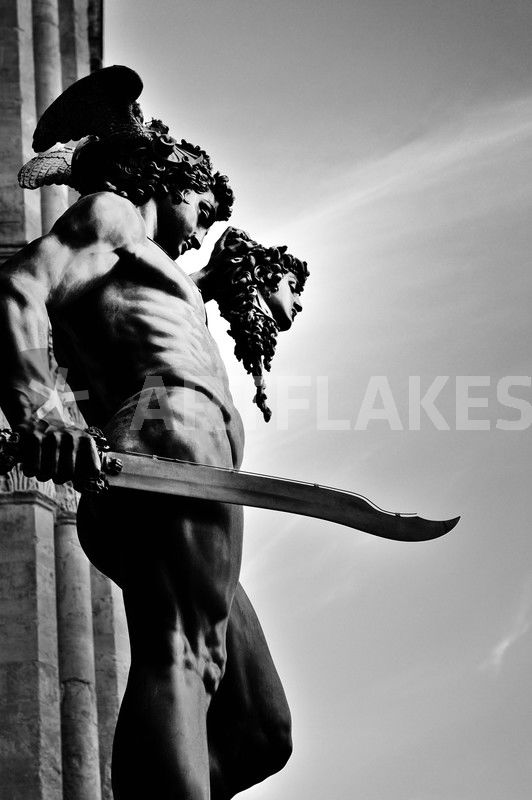Perseus With The Head Of Medusa Florence B W Photography