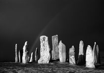 Winter Storm sky over Callanish. B&W by David Lyons