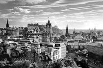 Edinburgh from Calton Hil. B&W von David Lyons