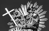 The Holy Trinity Column in Banska Stiavnica. B&W by David Lyons