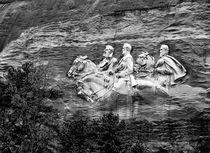 Stone Mountain Generals. Atlanta, Georgia. B&W von David Lyons