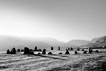 Prehistoric stones, Castlerigg. B&W by David Lyons