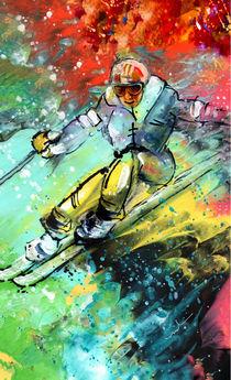 Skiing 11 von Miki de Goodaboom