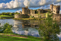 Caerphilly Castle Moat by Ian Lewis