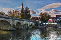 Wallingford Bridge Into The Town by Ian Lewis