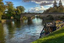 Moored By Wallingford Bridge von Ian Lewis