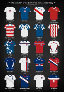 The Evolution of the Us World Cup Soccer Jersey by zapista