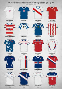 The Evolution of the USA World Cup Soccer Jersey by zapista