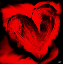 Red Heart  by wupper-art-design