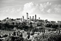 San Gimignano. B&W by David Lyons